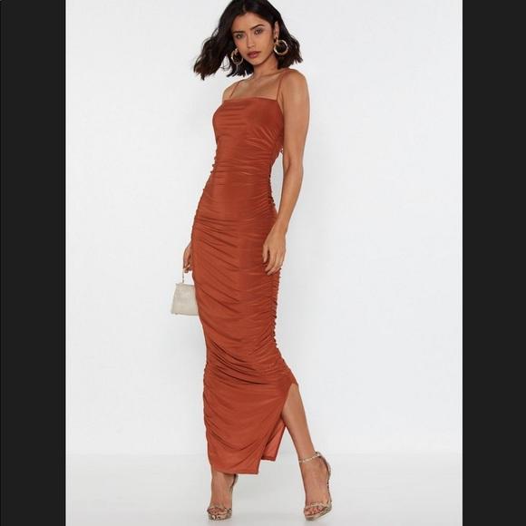 Nasty Gal Dresses & Skirts - Ruche Midi Dress
